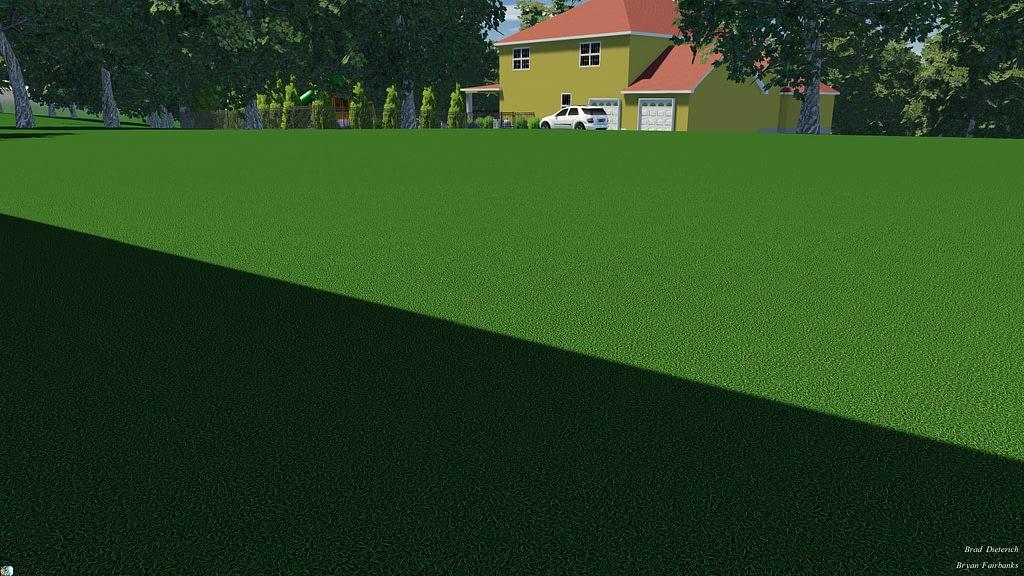 neighbors view of pool rendering