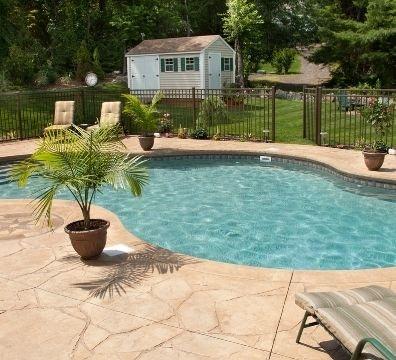 Free form liner pool located in Cincinnati, Ohio