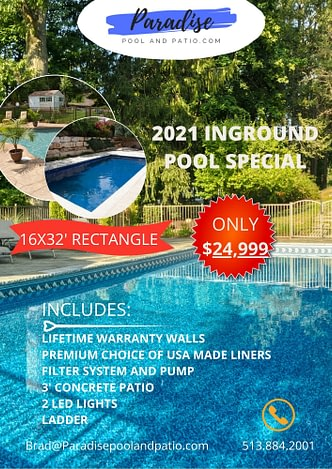 2021 In Ground Pool Specials Paradise, Paradise Inground Pools